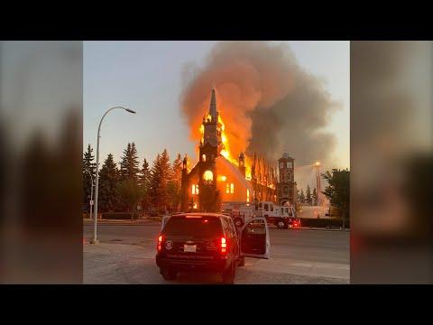 RCMP calling Catholic church fire in Morinville, Alta. suspicious 1