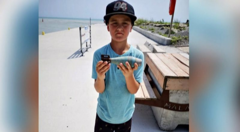 Explosive find for boy magnet fishing on Lake Erie 1