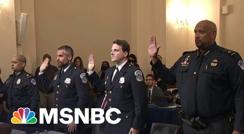 Capitol Police Officers Deliver 'Gut-Wrenching' Testimony In 1/6 Hearing 1