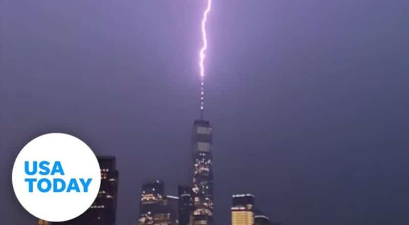 Paris to New York: 7 incredible lightning strikes on landmarks | USA TODAY 1