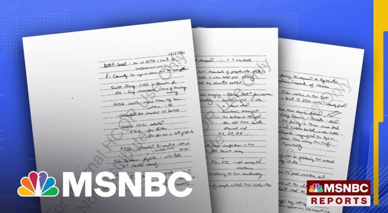 Trump Asked Top DOJ Officials To Declare 2020 Election 'Corrupt,' Notes Show 1