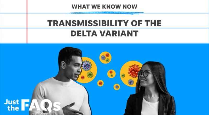 High transmissibility of the Delta variant: Here's why it's so contagious | Just the FAQs 1