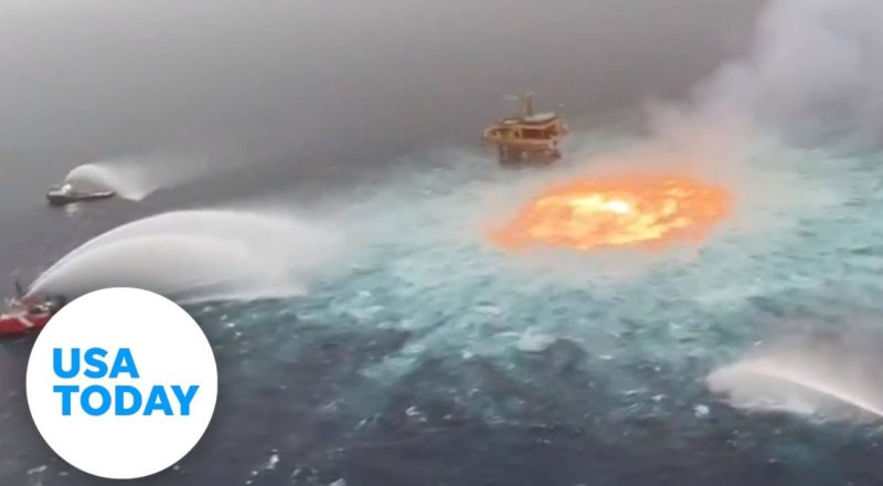 Gas pipeline fire boils underwater in the Gulf of Mexico | USA TODAY 2