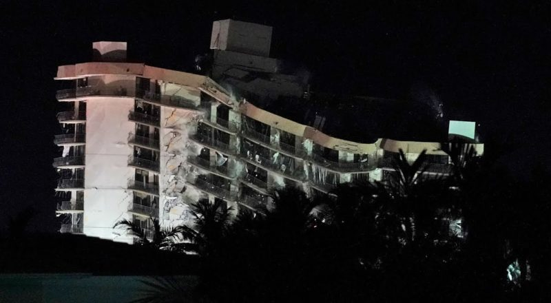 Explosives set off to bring down rest of collapsed Florida condo 1