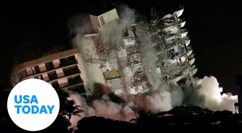 Surfside condo remainder demolished after initial deadly collapse | USA TODAY 1
