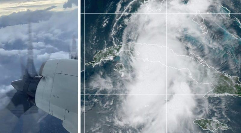 WATCH: Weather plane flies through Tropical Storm Elsa 7