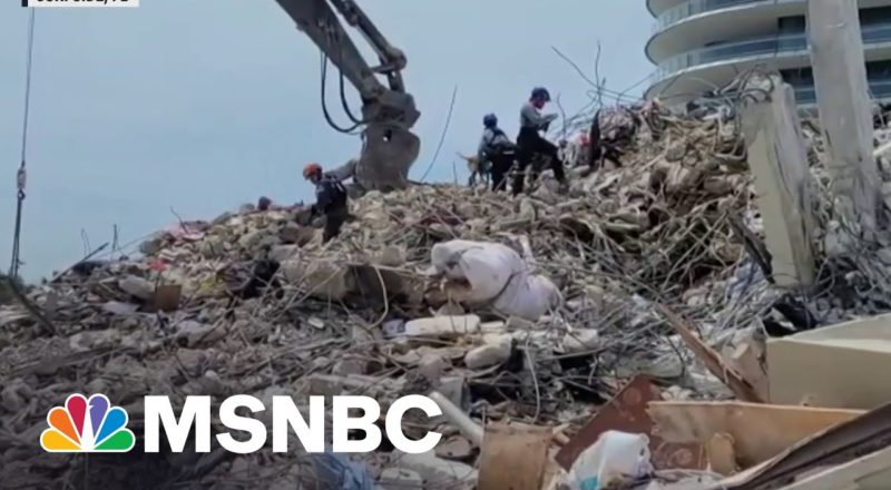 Tropical Storm Threatens Search For Survivors In Surfside Collapse 1