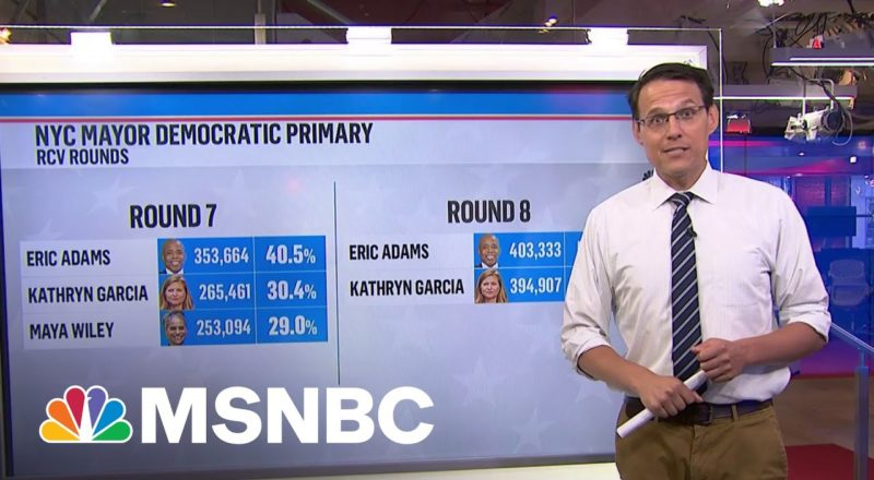 Kornacki Crunches Numbers From New York City Mayoral Race   MSNBC 4