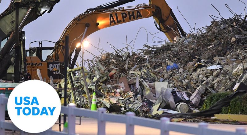 Officials give update on search and rescue efforts at collapsed condo | USA TODAY 6