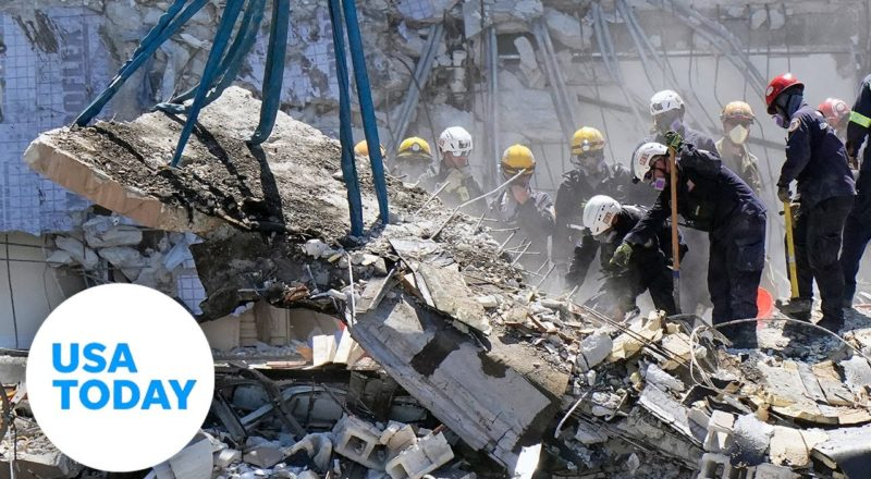 Media visits site of collapsed condo for the first time | USA TODAY 4