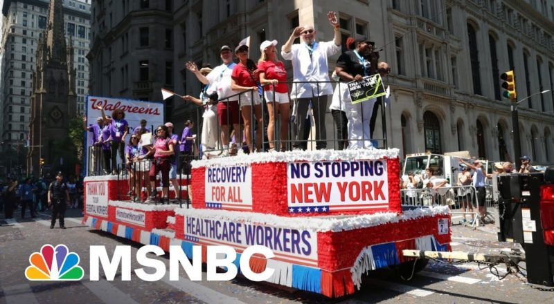 NYC Hosts 'Hometown Heroes' Parade To Honor Covid Frontline Workers 1