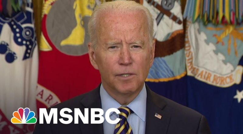 Biden Announces US Military Mission In Afghanistan Will End August 31 2