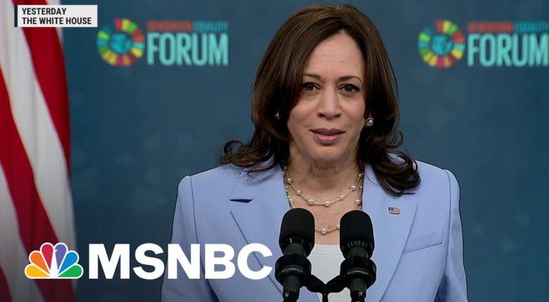 VP Kamala Harris Touts America's Efforts On Gender Equality | MSNBC 2