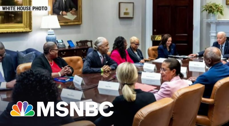 Civil Rights Leaders Meet With Biden To Discuss Voting Rights | MSNBC 1