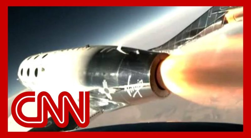See moment Richard Branson rockets into space 1