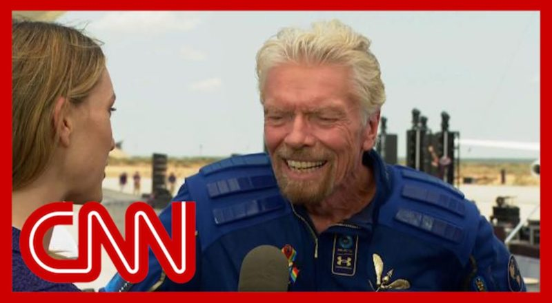 Richard Branson describes 'extraordinary' space flight 1