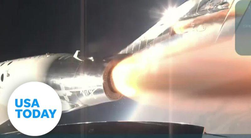 Watch Virgin Galactic space plane, Richard Branson make history   USA TODAY 7