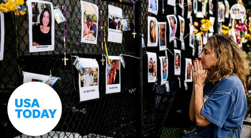 Surfside condo collapse victims remembered with a tribute wall | USA TODAY 2