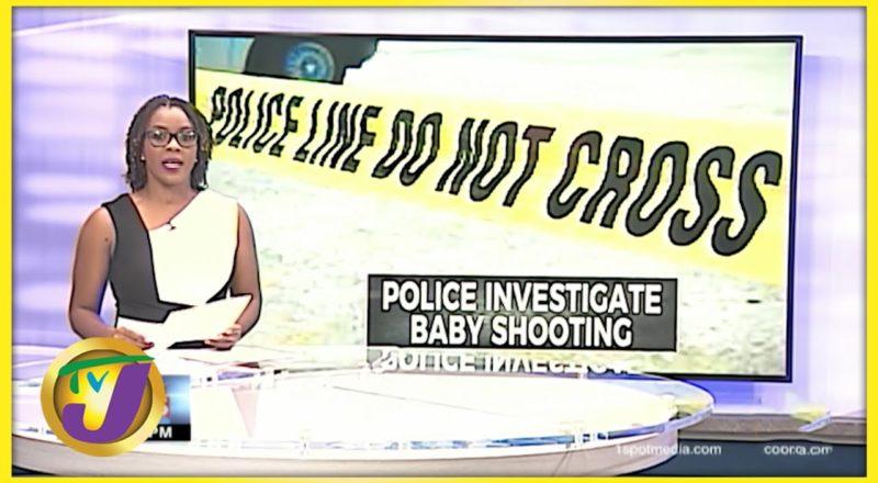 7 Month Old Shot in Kingston   TVJ News - July 13 2016 1
