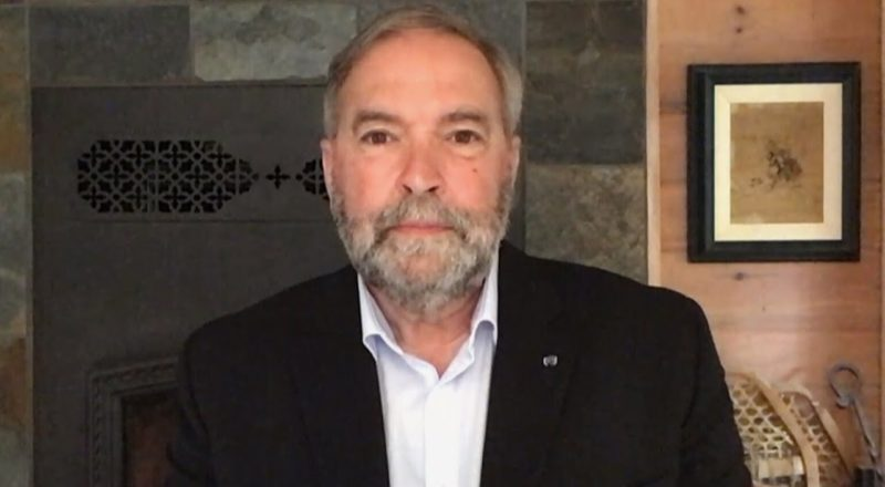 """Tom Mulcair reacts to Green Party meltdown 