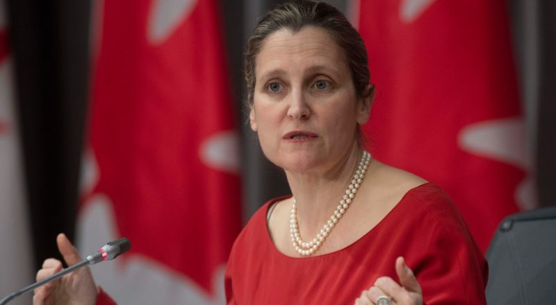 Freeland 'disturbed' by decision to keep Vice-Admiral Baines after he golfed with Vance 1