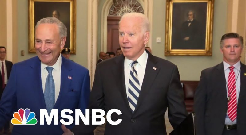 We Can Get This Done: Biden Joins Senate Dems To Discuss Spending Plan 1