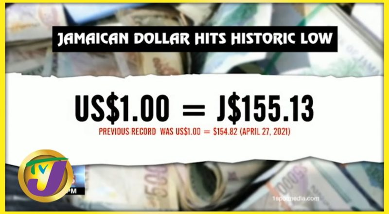 Jamaican Dollar Hits Record Low to US$ | TVJ Business Day - July 14 2021 1