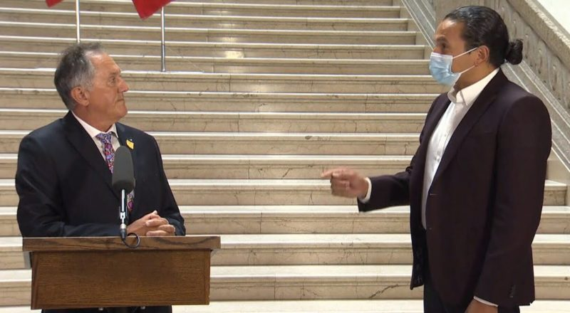 WATCH: Manitoba's new Indigenous relations minister called out in first press conference 2