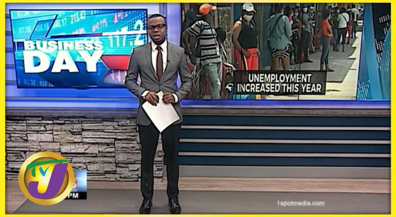 Study Shows Jamaica's Unemployment Increase   TVJ Business News - July 15 2021 1