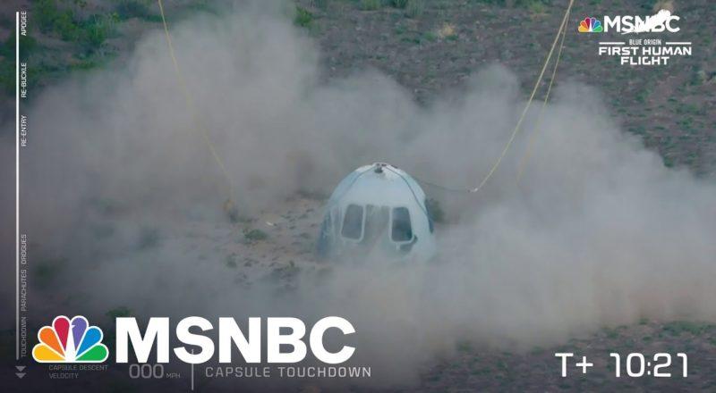 'Touchdown!': Blue Origin Capsule Lands Back On Earth 1
