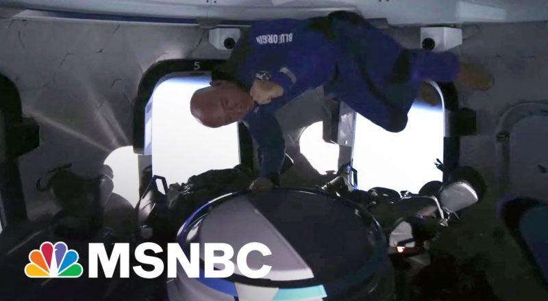 Watch: Jeff Bezos, Crew Float In Zero Gravity During Space Flight 3
