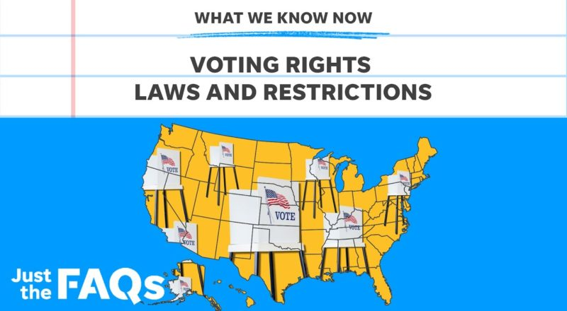 Voter restriction laws: Why Republican states are changing them | Just the FAQs 8