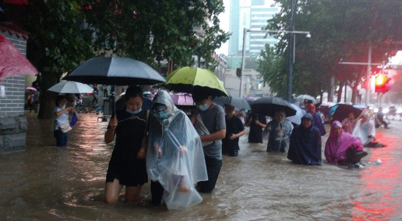 A month's worth of rain fell in an hour in China   Widespread flooding, death toll remains unknown 4