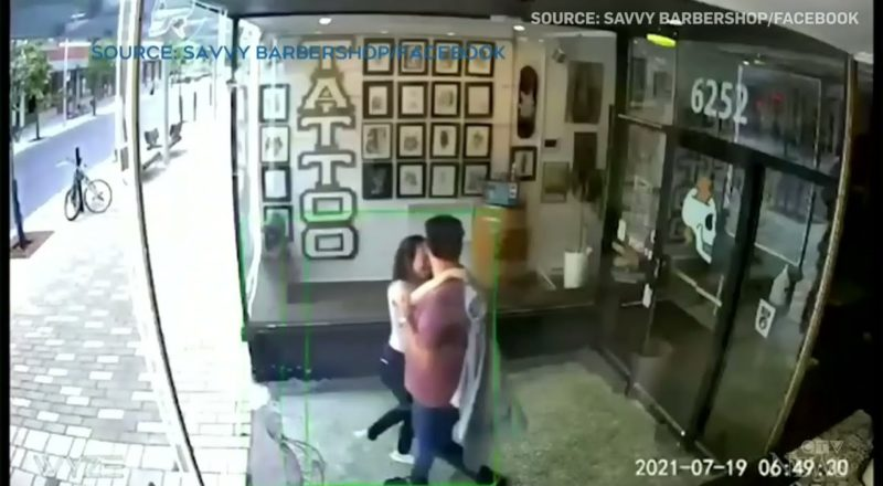 Love hurts? This couple fell through a door while making out in Montreal 1
