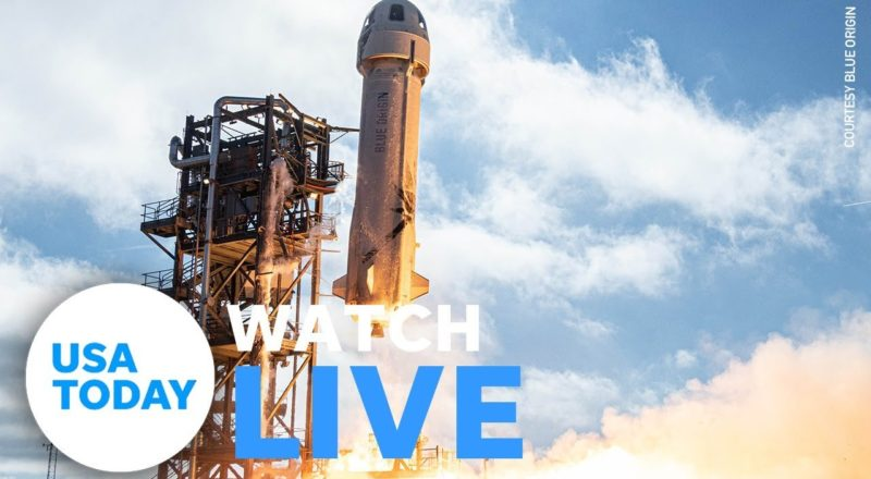 Blue Origin launches New Shepard rocket with Jeff Bezos onboard (LIVE)   USA TODAY 3