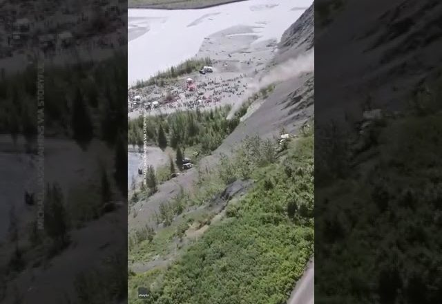 Small Alaska town celebrates Fourth of July by launching cars off a 300-foot cliff 1