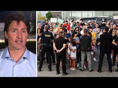 Trudeau moves to new location, addresses supporters after earlier rally cancelled 1