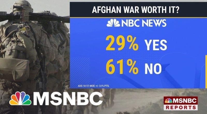 NBC News Poll: Biden Approval Ratings Drop Below 50 Percent Amid Afghanistan Crisis 1