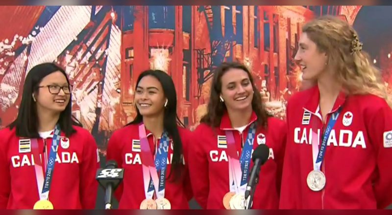 Canadian Olympic swimmers back home 2