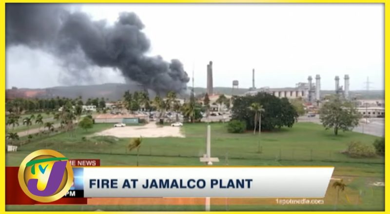 Fire at JAMALCO Plant in Jamaica   TVJ News - August 22 2021 1