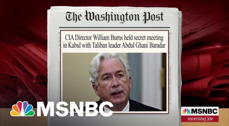 CIA Director William Burns Secretly Met Taliban Leader In Kabul 1