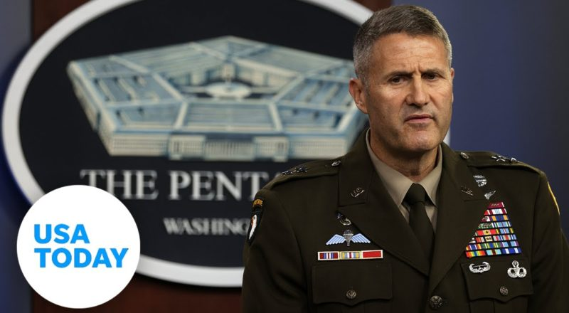 Pentagon holds press briefing to discuss situation in Afghanistan   USA TODAY 1