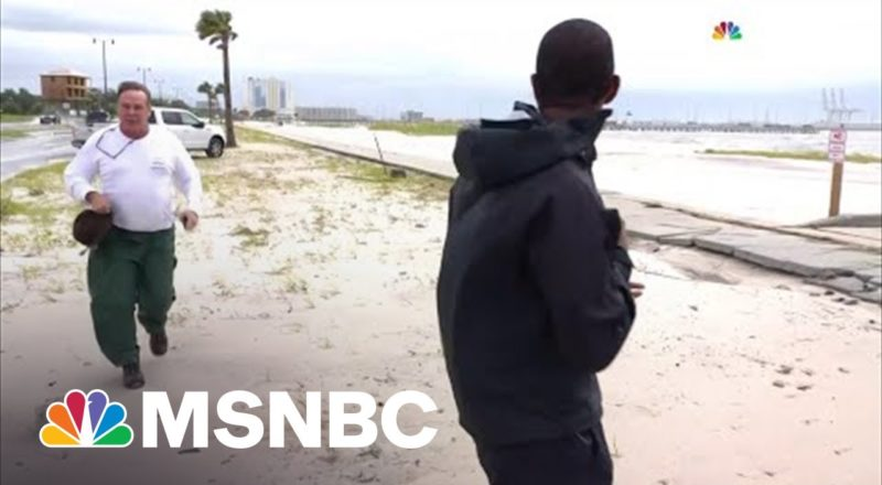 MSNBC Reporter Interrupted During Hurricane Ida Coverage By Heckler 2