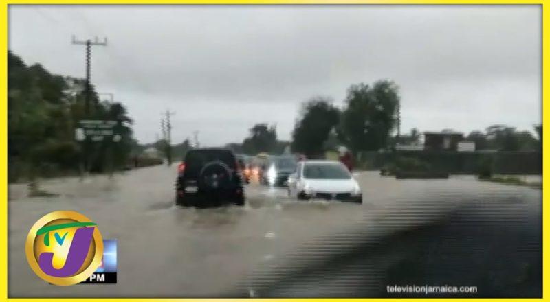 Tropical Storm Ida   Flooded Roadways in Jamaica Trap Motorist   TVJ News - August 27 2021 1