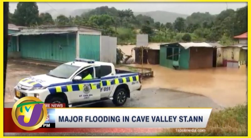 Tropical Storm Ida   Major Flooding in Cave Valley St Ann Jamaica   TVJ News - August 27 2021 1