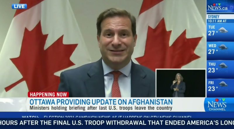 Canada's foreign affairs minister, immigration minister give an update on situation in Afghanistan 1
