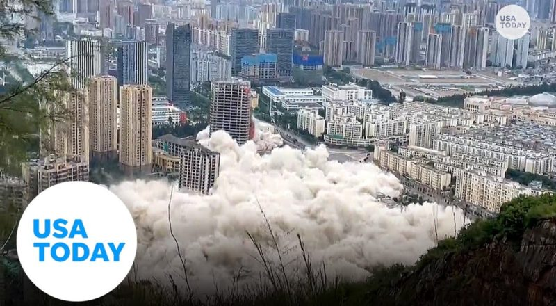15 buildings in China get demolished simultaneously | USA TODAY 1