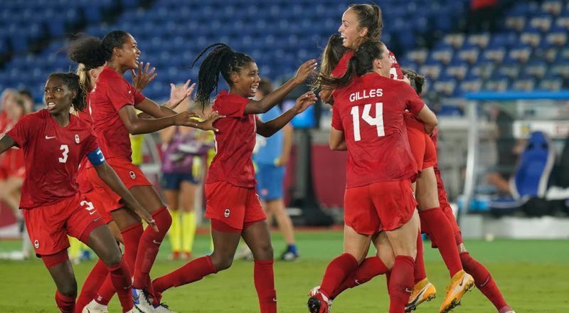 Canada wins gold in women's soccer after beating Sweden 3