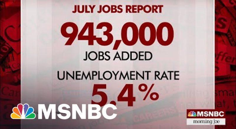 U.S. Economy Added 943,000 Jobs In July 3