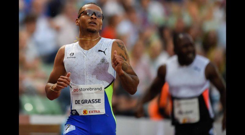 Canadian sprinter Andre De Grasse takes bronze medal in 100m 1
